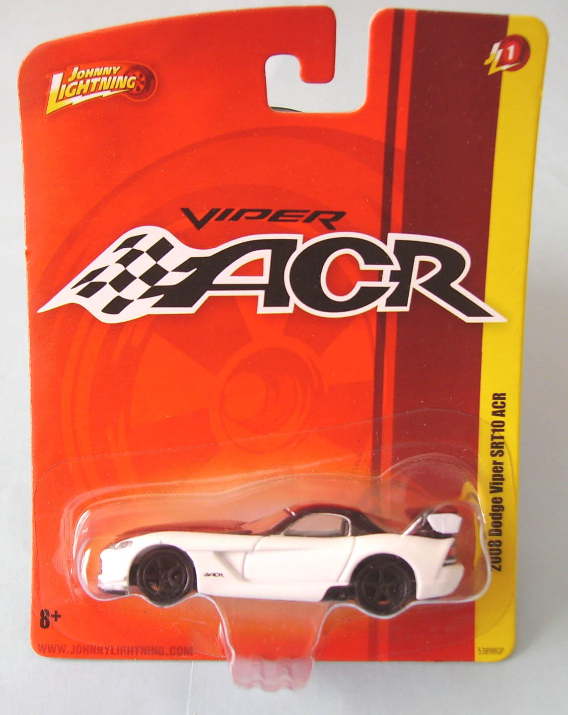 Johnny Lightning Red Card 40 Years 2008 Dodge Viper SRT10 ACR Black Release 7